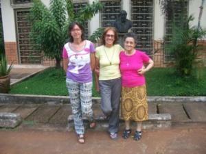 Comunidad LMC de Mongoumba. De izquierda a derecha, Teresa, Elia y Palmira