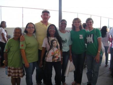 Grupo de pastoral penitenciaria con el P. Adriano.